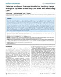 Plos Computational Biology : Pairwise Ma... by Sporns, Olaf
