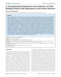 Plos Computational Biology : a Threading... by Gao, Mu