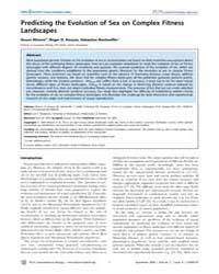 Plos Computational Biology : Predicting ... by Misevic, Dusan