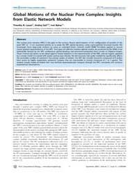 Plos Computational Biology : Global Moti... by Lezon, Timothy R.