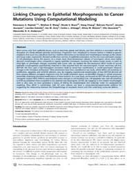 Plos Computational Biology : Linking Cha... by Rejniak, Katarzyna A.