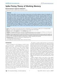 Plos Computational Biology : Spike-timin... by Szatmáry, Botond