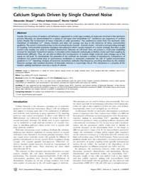 Plos Computational Biology : Calcium Sig... by Skupin, Alexander