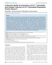 Plos Computational Biology : Dynamic Mod... by Pepke, Shirley