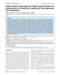 Plos Computational Biology : Explicit Ki... by Ganusov, Vitaly V.