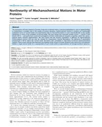 Plos Computational Biology : Nonlinearit... by Togashi Yuichi