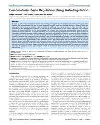 Plos Computational Biology : Combinatori... by Hermsen, Rutger