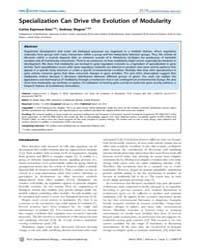 Plos Computational Biology : Specializat... by Soto Carlos Espinosa