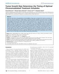 Plos Computational Biology : Tumor Growt... by Bernard Samuel