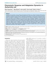 Plos Computational Biology : Chemotactic... by Clausznitzer Diana