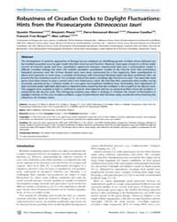 Plos Computational Biology : Robustness ... by Quentin Thommen