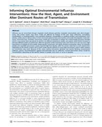 Plos Computational Biology : Informing O... by Ian H. Spicknall