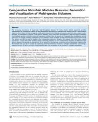 Plos Computational Biology : Comparative... by Kacmarczyk, Thadeous