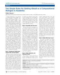 Plos Computational Biology : Ten Simple ... by Bourne, Philip, E.