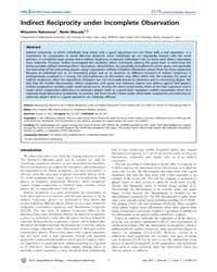 Plos Computational Biology : Indirect Re... by Nakamura, Mitsuhiro