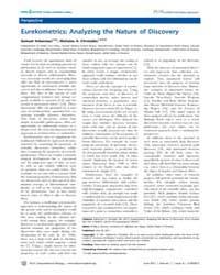 Plos Computational Biology : Eurekometri... by Arbesman, Samuel