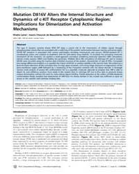 Plos Computational Biology : Mutation D8... by Laine, Elodie