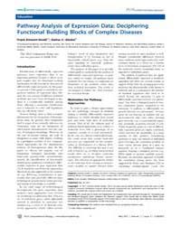 Plos Computational Biology : Pathway Ana... by Emmert-streib, Frank