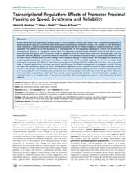 Plos Computational Biology : Transcripti... by Boettiger, Alistair, N.