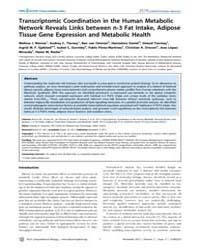 Plos Computational Biology : Transcripto... by Morine, Melissa, J.