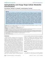 Plos Computational Biology : Hydrophobic... by Bar-even, Arren