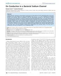 Plos Computational Biology : on Conducti... by Furini, Simone