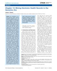 Plos Computational Biology : Chapter 13 ... by Lewitter, Fran
