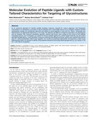 Plos Computational Biology : Molecular E... by Ofran, Yanay