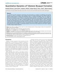 Plos Computational Biology : Quantitativ... by Noble, William, Stafford