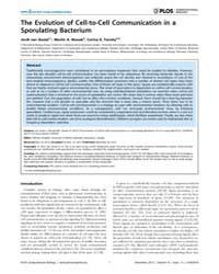 Plos Computational Biology : the Evoluti... by Doebeli, Michael