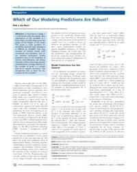 Plos Computational Biology : Which of Ou... by Rob J. De Boer