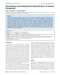 Plos Computational Biology : Quantifying... by Thompson, Ethan G.