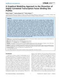 Plos Computational Biology : a Graphical... by Stojnic, Robert