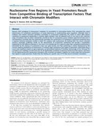 Plos Computational Biology : Nucleosome ... by Ozonov, Evgeniy, A.