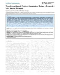Plos Computational Biology : Transformat... by Latorre, Roberto