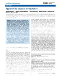 Plos Computational Biology : Approximate... by Sunnaker, Mikael