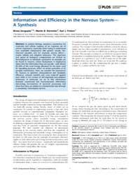 Plos Computational Biology : Information... by Sengupta, Biswa