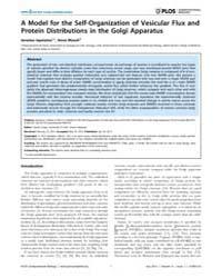 Plos Computational Biology : a Model for... by Ispolatov, Iaroslav