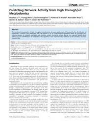 Plos Computational Biology : Predicting ... by Li, Shuzhao