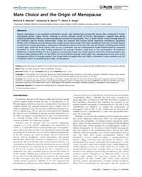 Plos Computational Biology : Mate Choice... by Morton, Richard, A.