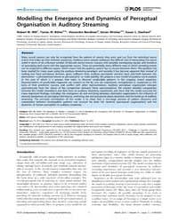 Plos Computational Biology : Modelling t... by Mill, Robert, W.