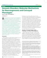 Plos Genetics : Genomic Disorders ; Mole... by Lupski, James R.