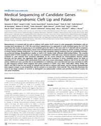 Plos Genetics : Medical Sequencing of Ca... by Heyningen, Veronica Van