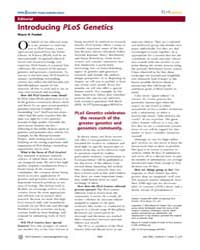 Plos Genetics : Introducing Plos Genetic... by Frankel, Wayne N.