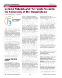 Plos Genetics : Genome Network and Fanto... by Hayashizaki, Yoshihide