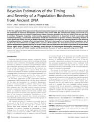 Plos Genetics : Bayesian Estimation of t... by Przeworski, Molly