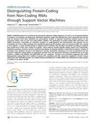 Plos Genetics : Distinguishing Protein-c... by Blake, Judith