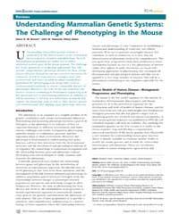 Plos Genetics : Understanding Mammalian ... by Fisher, Elizabeth