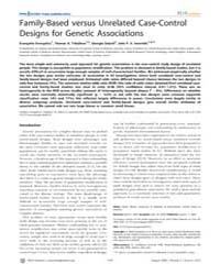 Plos Genetics : Family-based Versus Unre... by Allison, David