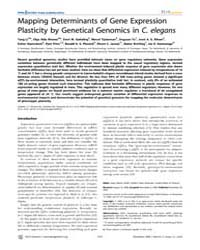 Plos Genetics : Mapping Determinants of ... by Gibson, Greg